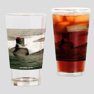 seawolf framed panel print Drinking Glass