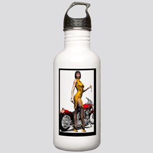 Biker_Girl_Street_Of_D Stainless Water Bottle 1.0L