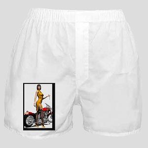 Biker_Girl_Street_Of_Dreams_postcard Boxer Shorts