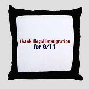 Thank Illegal Immigration Throw Pillow