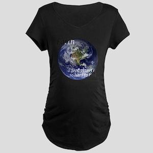 GoodPlanet-2-blackLetters c Maternity Dark T-Shirt