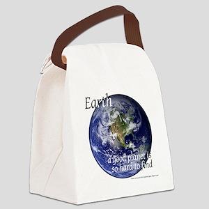 GoodPlanet-2-blackLetters copy Canvas Lunch Bag