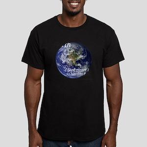 GoodPlanet-2-blackLett Men's Fitted T-Shirt (dark)