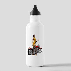 Biker_Girl_Street_Of_D Stainless Water Bottle 1.0L