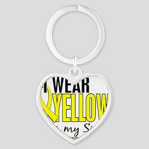 D I Wear Yellow For My Sister 10 En Heart Keychain