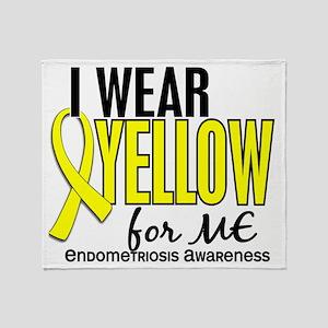 D I Wear Yellow For Me 10 Endometrio Throw Blanket