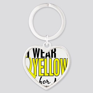 D I Wear Yellow For Me 10 Endometri Heart Keychain