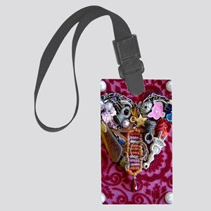 Found Heart JOURNAL Large Luggage Tag