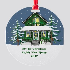 2017 My 1St Christmas House Round Ornament