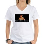 i am a disco dancer Women's V-Neck T-Shirt
