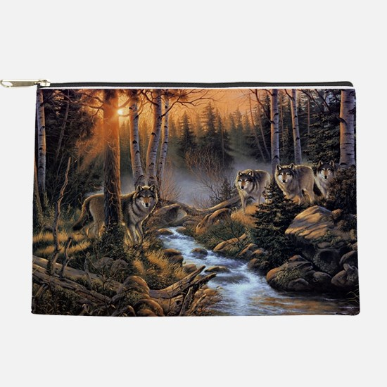 Forest Wolves Makeup Pouch