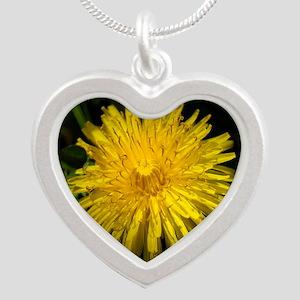 dandelion1 Silver Heart Necklace
