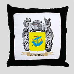 Macphail Coat of Arms - Family Crest Throw Pillow