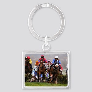 racing horses Landscape Keychain