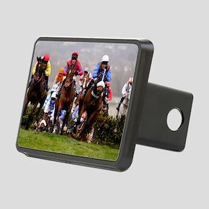 racing horses Rectangular Hitch Cover