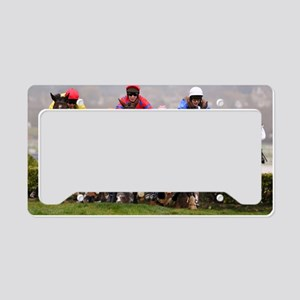 racing horses License Plate Holder