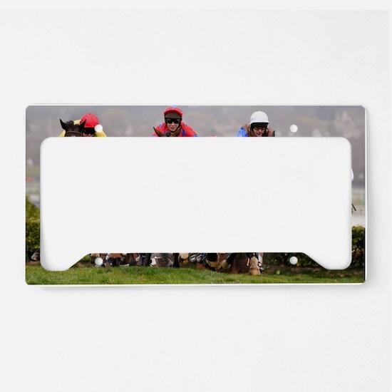 racing horses License Plate Holder