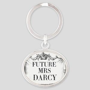 Future Mrs Darcy Mug Ornate Oval Keychain