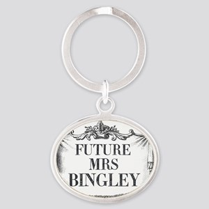 Future Mrs Bingley Mug Ornate Oval Keychain