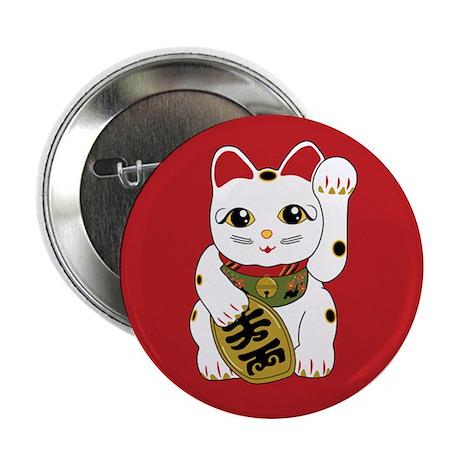 Maneki Neko Cat Button