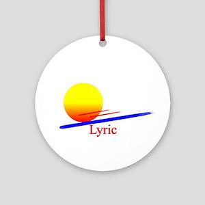 Lyric Ornament (Round)