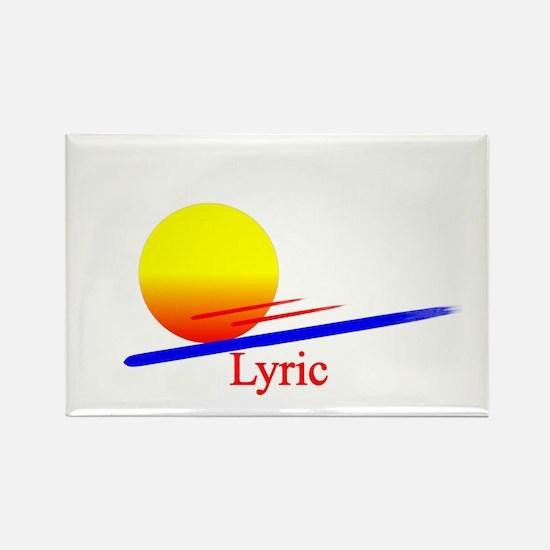 Lyric Rectangle Magnet