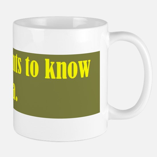 mummy wants to know your biod Mug
