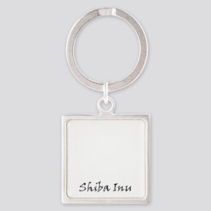 shiba inu white Square Keychain