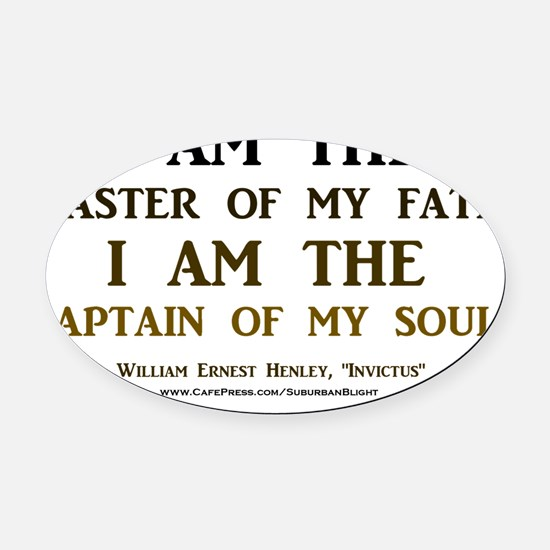Master Of My Fate 2 light apparel Oval Car Magnet
