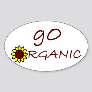 go organic Oval Sticker