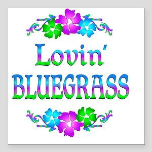 "bluegrassl Square Car Magnet 3"" x 3"""