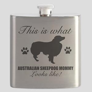 AUSRALIAN SHEPJHERD Flask