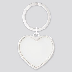GREAT PYRENESE WHITE Heart Keychain