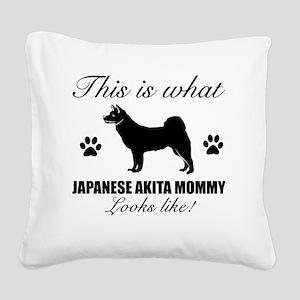 JAPANESE AKITA Square Canvas Pillow