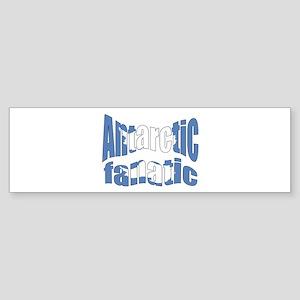 Antarctic fanatic flag Bumper Sticker