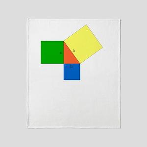 pythagoreanTheorem-1-whiteLetters co Throw Blanket