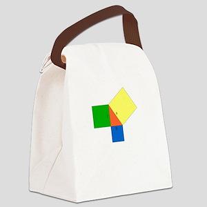 pythagoreanTheorem-1-whiteLetters Canvas Lunch Bag