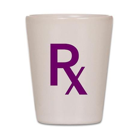 Purple Rx Symbol Shot Glass