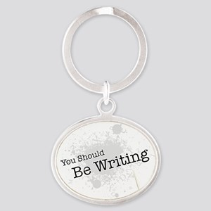 be Oval Keychain