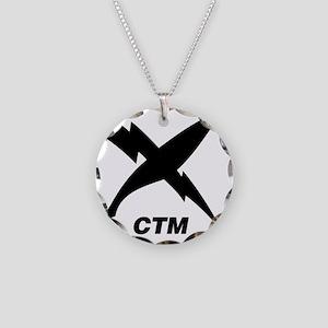 ctm_blackT Necklace Circle Charm