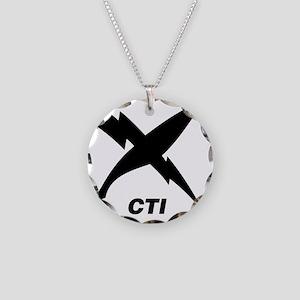 cti_blackT Necklace Circle Charm