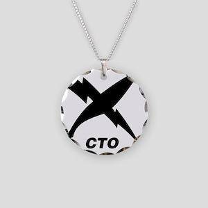 cto_blackT Necklace Circle Charm