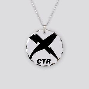 ctr_blackT Necklace Circle Charm