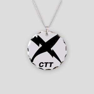 ctt_blackT Necklace Circle Charm