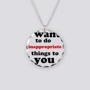 inappropriate Necklace Circle Charm
