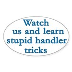 Watch Us Oval Sticker