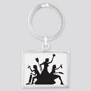 cleaning action team Landscape Keychain