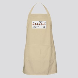 Gingerbread Thoughts BBQ Apron