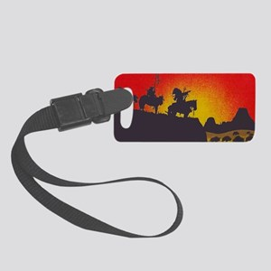 Indians On The Prairie Licence P Small Luggage Tag