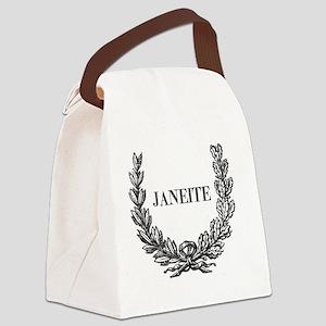 janeite mug ornate Canvas Lunch Bag